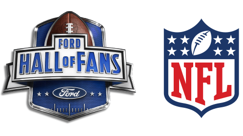 Ford Hall of Fans and NFL official logos